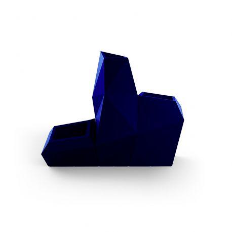 Ensemble de 3 pots Faz, Taille L, Vondom, bleu marine