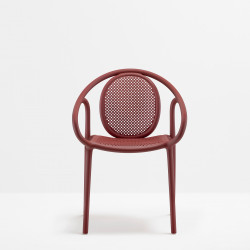 Lot de 4 fauteuils Remind 3735, Pedrali, rouge