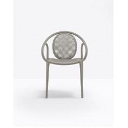 Lot de 4 fauteuils Remind 3735, Pedrali, gris