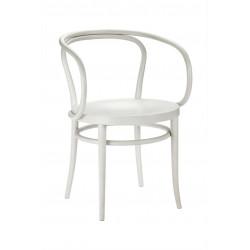 """Fauteuil 209 M Thonet, dit """"Le Corbusier"""", assise bois, blanc"""