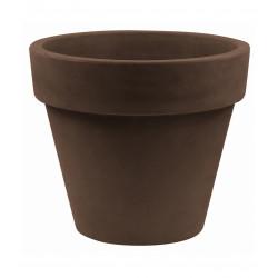 Lot de 2 Pots Maceta diamètre 60 x hauteur 52 cm, simple paroi, Vondom bronze