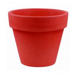 Pot Maceta diamètre 80 x hauteur 69 cm, simple paroi, Vondom rouge
