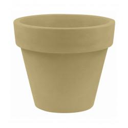 Pot Maceta diamètre 120 x hauteur 104 cm, simple paroi, Vondom beige